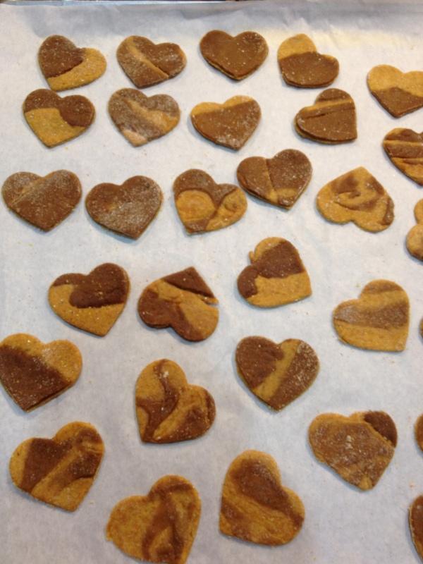 Sunflower seed buttergingerbread Heart Shaped Dog Treats